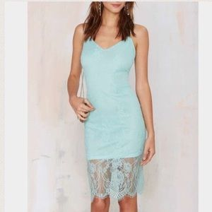 Nasty Gal glamorous lace dress in Mint